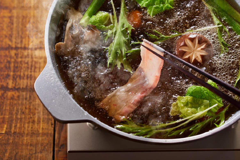 おダシが選べるイベリコ豚のレタしゃぶ鍋